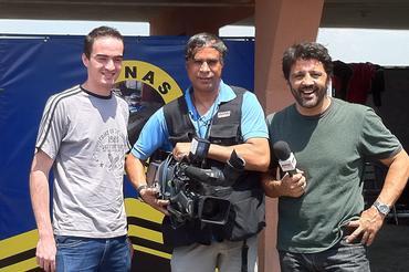 Celso Miranda (E), Carlinhos Bala e Fenando Otto), do programa Super Motor