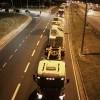 Caminhões chegaram por volta das 23h30 ao Anhembi