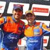 Cacá e Popó comemorando vitória dupla da equipe Itaú