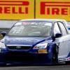 O Ford Focus da equipe ProGP em ação na pista paranaense