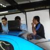 Carlão acompanhando de perto, os técnicos da ZL