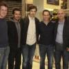 Os pilotos Leonardo Burti, Cleber Faria, Vanuê Faria e Luciano Burti com Bruno Theil