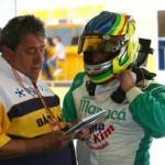Piloto Wellington Justino e Amadeu Rodrigues, chefe de equipe