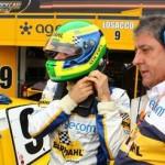 Losacco conversa com Amadeu Rodrigues antes de entrar no carro
