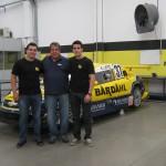 Eduardo Leite, Amadeu Rodrigues e Diego Nunes na sede da Hot Car