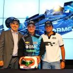 Barrichello, Kunzler e Tuka: BMC na Stock e na Indy (Foto: Carsten Horst)