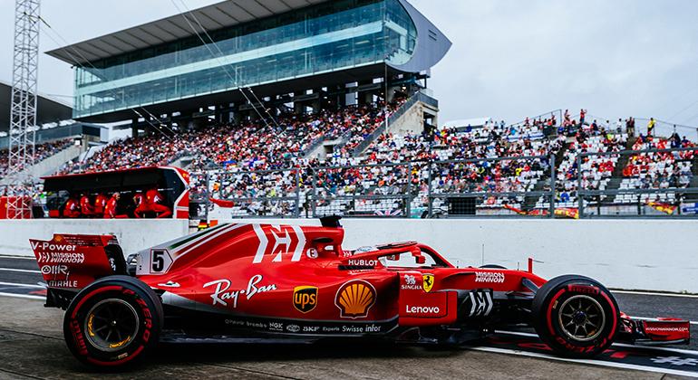Vettel e a Ferrari: erros e acidentes novamente impediram melhor resultado (Ferrari)