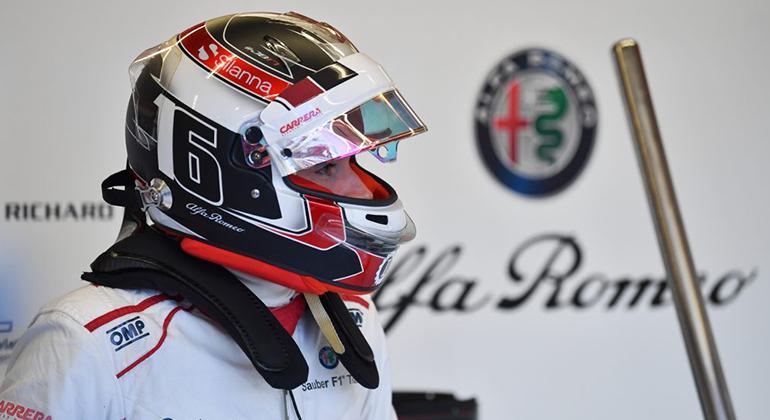 Charles Leclerc, hoje na Alfa Romeo-Sauber, troca de lugar com Kimi Räikkönen na temporada 2019 (Sauber)