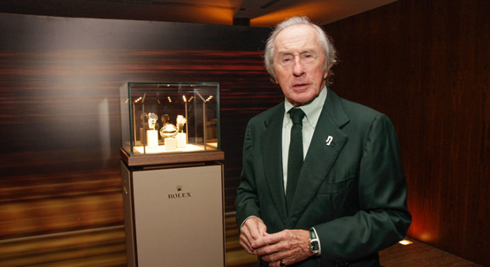 "Condecorado com o título de ""Sir"", Jackie Stewart é o exemplo de marketing na categoria (Foto: Rolex)"