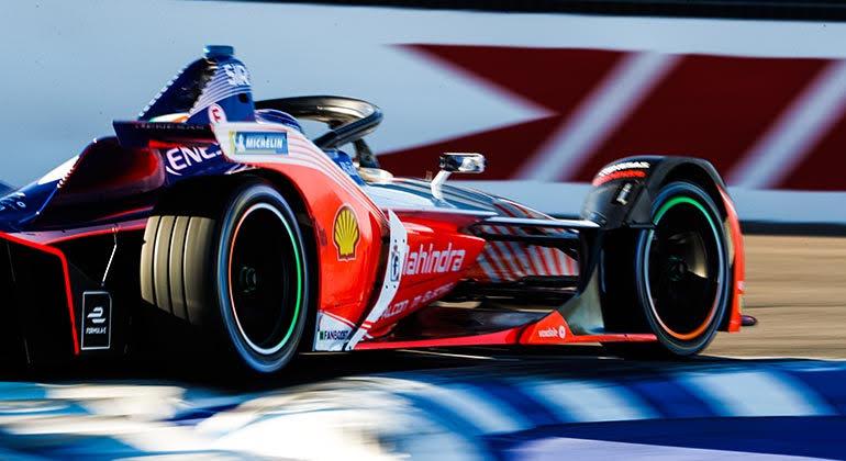 Sergei Sirotkin (Mahindra) foi um dos pilotos que testaram no Marrocos (FIA-FE)