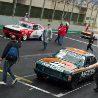 Rodrigo e Pedro na primeira fila do grid da Old Stock Race em 2018 (Foto: Divulgação)