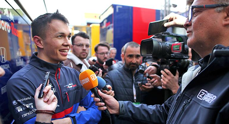 Estreante Alexander Albon surpreendeu e criou expecativa em torno do rendimento da Toro Rosso (RBCP/Getty Images)