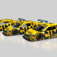 Layout dos carros da Cimed Racing para a temporada 2019 da Stock Car (foto: Divulgação)