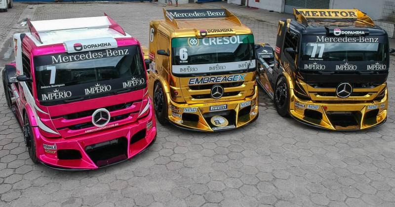 Os brutos da AM Motorsport estão prontos para a temporada da Copa Truck (Foto: Rodrigo Ruiz)
