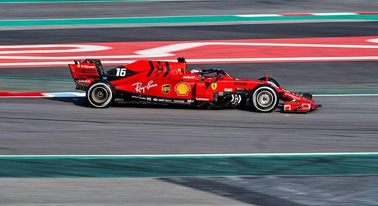 Monegasco Charles Leclerc foi mais rápido que o tetra campeão mundial Sebastian Vettel (Ferrari)