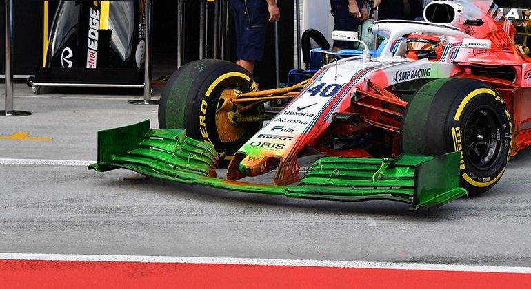Tintas contrastantes ajudam a Williams a comprovar o fluxo aerodinâmico do FW42 (F1-Com)