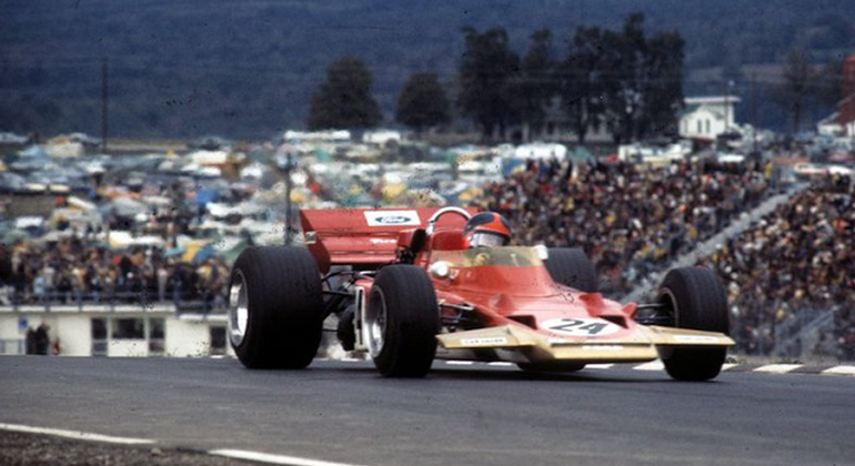 Emerson Fittipaldi: primeiro brasileiro a vencer um GP oficial, o dos Estados Unidos de 1970 (Lotus)