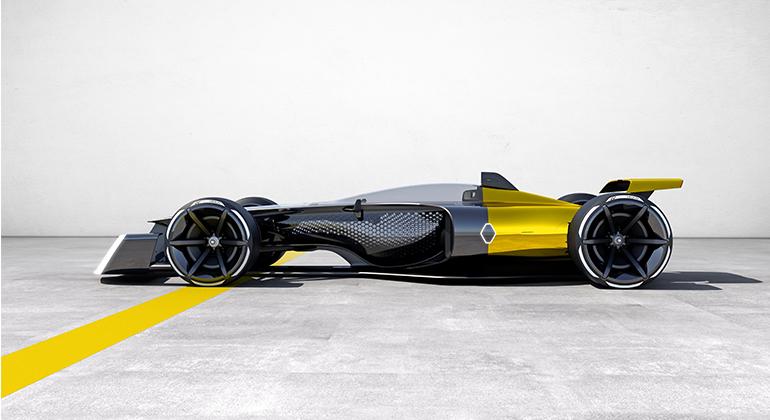 Estudo da Renault ilustra como poderão ser os F-1 dentro de duas décadas (Renault)