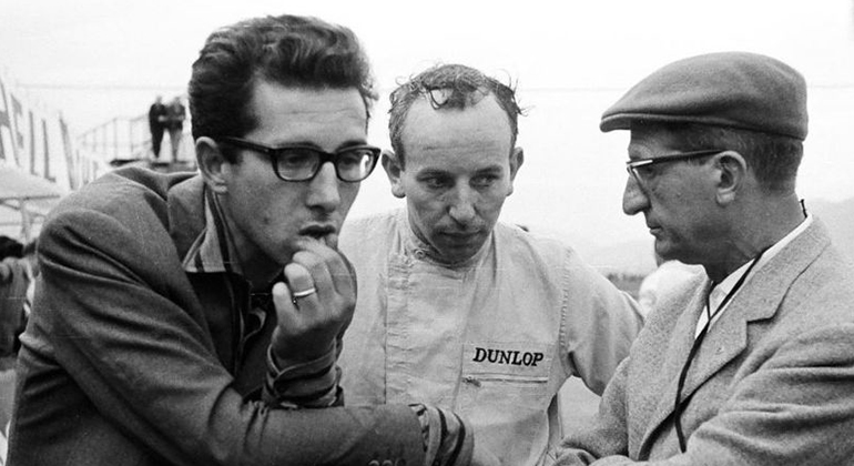 Mauro Forghieri, John Surtees e Eugenio Dragoni em tempos de bons amigos (Italia Passion)