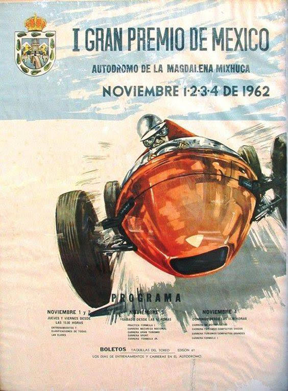 cartaz GP mexico antigo