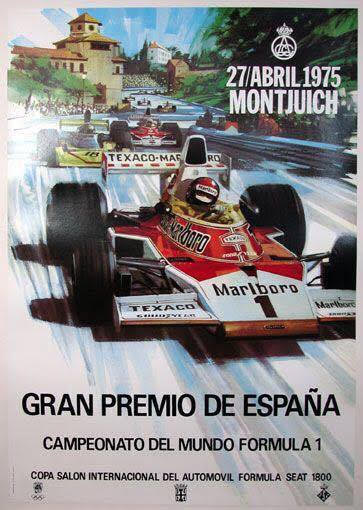 cartaz GP espanha antigo