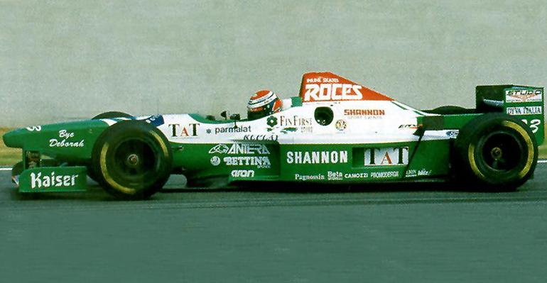 A equipe de Guido Forti foi outra vítima do grupo Shannon Racing (Forti Corse)