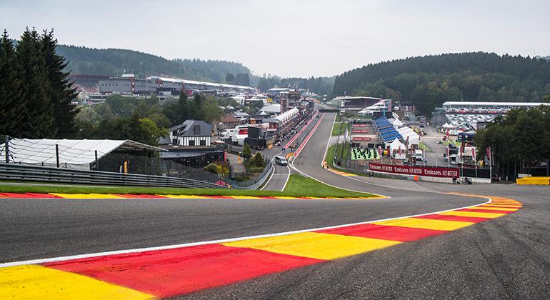 A curva Eau Rouge, um dos grandes desafios do automobilismo mundial (Racing Point)