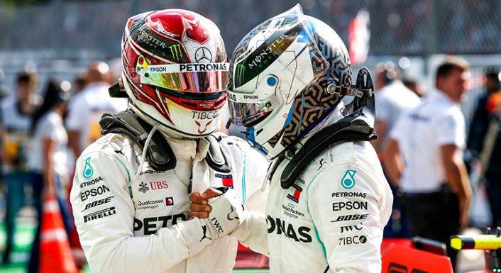 Lewis Hamilton (D) e Valtteri Bottas: juntos na alegria e na tristeza (Mercedes)