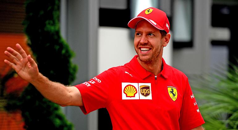 Tetra-campeão mundial, Sebastian Vettel não hesita em repetir velhas táticas para defender seu reinado (Ferrari)