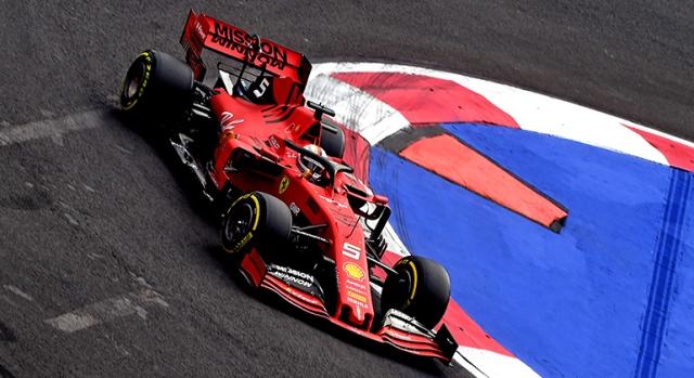 Sebastian Vettel liderou e tentou recuperar a posição nas voltas finais. Não conseguiu (Ferrari)