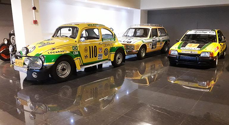 Réplica do Fusca de Nygaard e Reolon está exposta em Passo Fundo (Museu do Automobilismo Brasileiro)