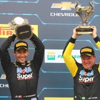 Filipe Albuquerque (esq) e Rubens Barrichello (Foto: Carsten Horst)