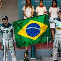 Sérgio Jimenez e Cacá Bueno fizeram dobradinha na etapa de Mônaco em 2019 (Jaguar)