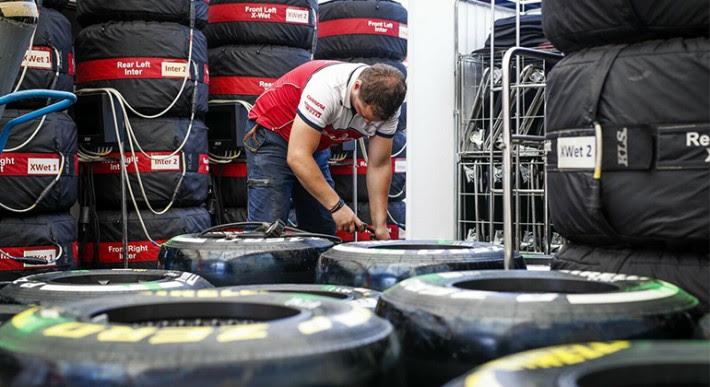 Na retomada das operações de pista equipes reduzidas nos boxes (Alfa Romeo-Orlen)