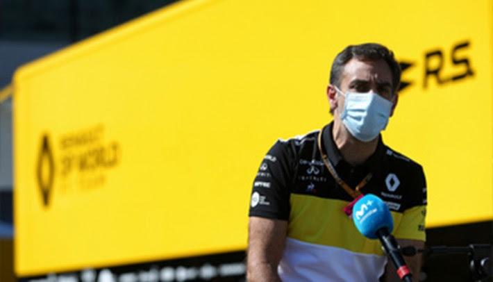 Cyril Abiteboul, chefe da equipe Renault: protesto contra carro da Racing Point (Renault)