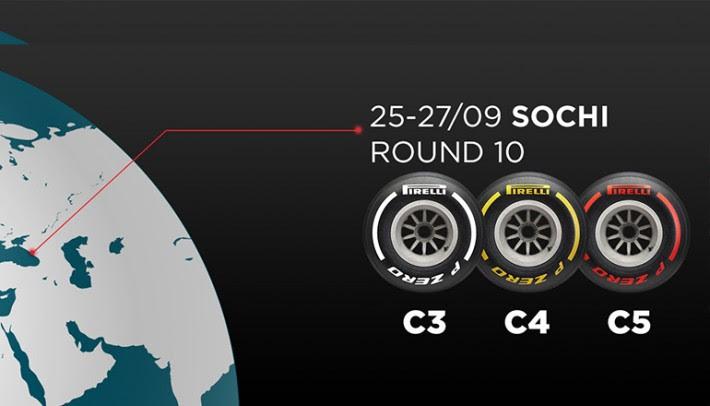 Na Rússia, pela primeira vez no ano, serão usados os compostos mais macios da temporada (Pirelli)