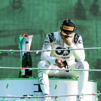 Solitário no pódio de Monza, Pierre Gasly reflete sobre sua carreira (Red Bull)