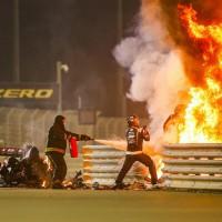 romain-grosjean-haas-acidente Bahrein 2020