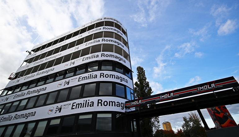 O autódromo Enzo e Dino Ferrari, em Imola, foi confirmado como palco da segunda etapa deste ano (Red Bull/Getty Images)