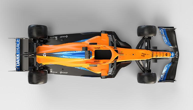 Seção traseira do chassi com assoalho mais estreito diminui carga aerodinâmica (McLaren)