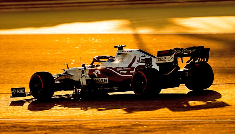 Kimi Räikkönen, campeão mundial de 2007 e decano do grid ainda brilha e se destaca (Alfa Romeo)