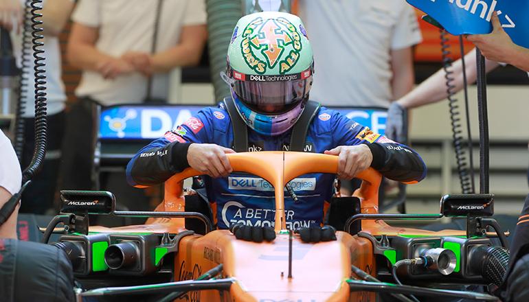 Daniel Ricciardo estranhou os freios na adaptação ao seu novo carro (McLaren)